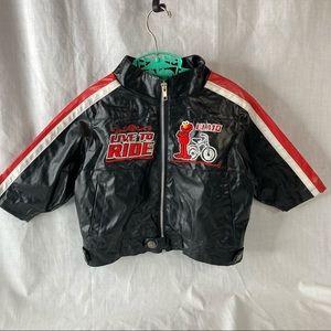 Sesame Street Elmo Faux Leather Motorcycle Jacket